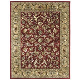 Hand-tufted Royal Taj Red Wool Area Rug (9'6 x 13')
