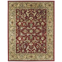 Hand-tufted Royal Taj Red Wool Area Rug (9'6 x 13')