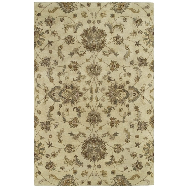 Hand-tufted Royal Taj Sand Wool Area Rug - 8' x 10'