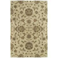 Hand-tufted Royal Taj Sand Wool Area Rug - 8' x 10'
