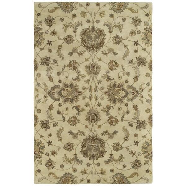 "Hand-tufted Royal Taj Sand Wool Area Rug (9'6 x 13') - 9'6"" x 13'"