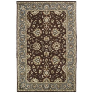 Hand-tufted Royal Taj Brown Wool Rug - 8' x 10'