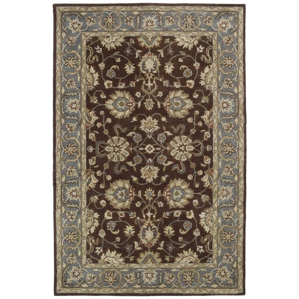 Hand-tufted Royal Taj Brown Wool Rug (8' x 10')