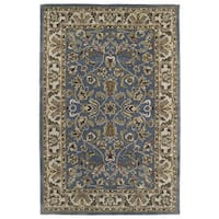 Hand-tufted Royal Taj Blue Wool Area Rug (8' x 10')