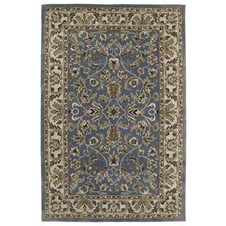 Hand-tufted Royal Taj Blue Wool Area Rug (8' x 10') - 8' x 10'