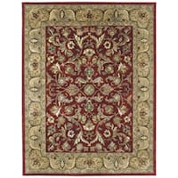 Hand-tufted Royal Taj Red Wool Area Rug - 8' x 10'