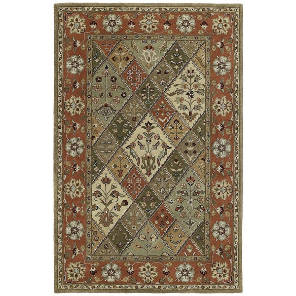 Hand-tufted Royal Taj Multicolored Wool Area Rug - 9'6 x 13'