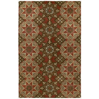Hand-tufted Royal Taj Raspberry Wool Area Rug - 8' x 10'