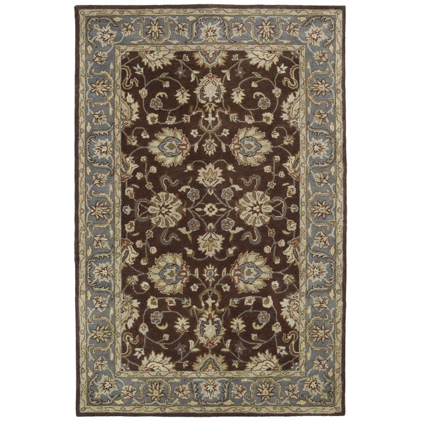 Hand-tufted Royal Taj Brown Wool Area Rug (9'6 x 13')