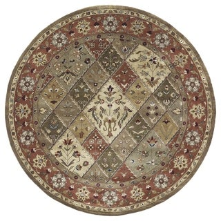 Hand-tufted Royal Taj Multicolored Wool Rug (7'9 Round)