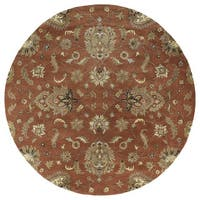 Hand-tufted Royal Taj Copper Wool Rug (9'9 Round)