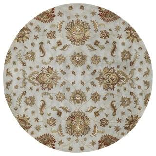 Hand-tufted Royal Taj Light Blue Wool Rug (5'9 Round)