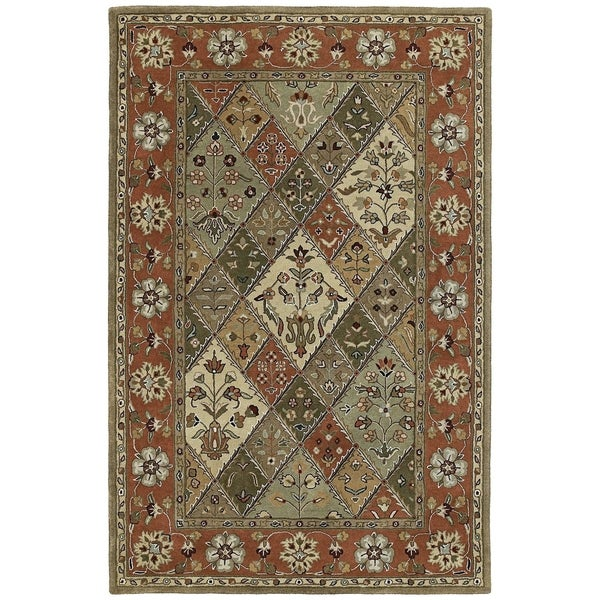 Hand-tufted Royal Taj Multicolored Wool Rug (5' x 7'9)