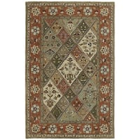 Hand-tufted Royal Taj Multicolored Wool Rug - 5' x 7'9