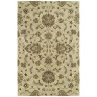 Hand-tufted Royal Taj Sand Wool Rug - 5' x 7'9
