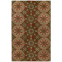 Hand-tufted Royal Taj Raspberry Wool Rug - 5' x 7'9