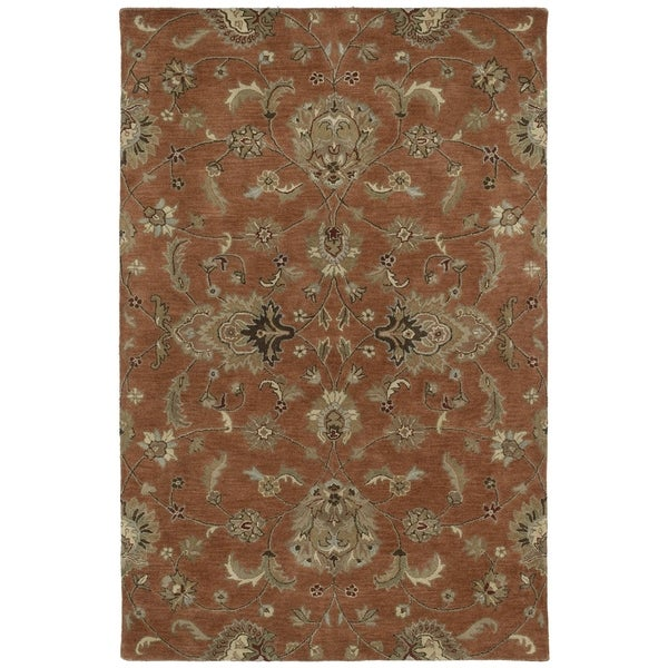 Hand-tufted Royal Taj Copper Wool Rug - 5' x 7'9