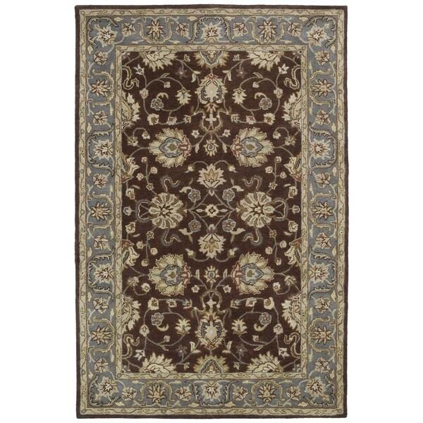 Hand-tufted Royal Taj Brown Wool Rug - 5' x 7'9