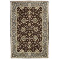 Hand-tufted Royal Taj Brown Wool Rug - 5' x 7'9