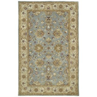 Hand-tufted Royal Taj Aqua Wool Rug - 5' x 7'9""