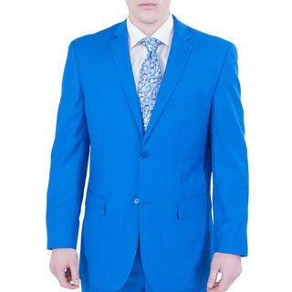Ferrecci Men's Royal Blue 2-button Suit - Free Shipping Today
