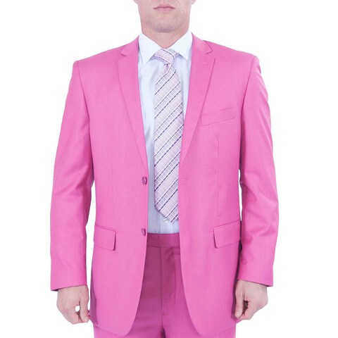 Ferrecci Men's Fuchsia 2-button Party Suit