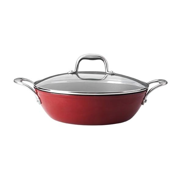 Guy Fieri Red Lightweight Cast Iron 5 Quart Braiser Pan