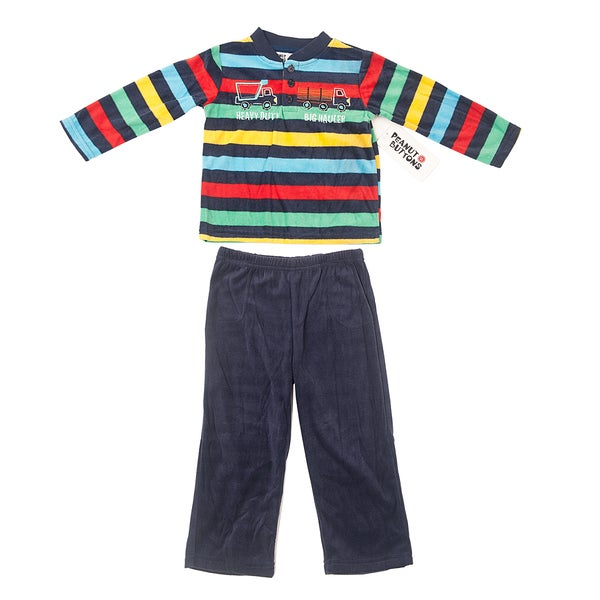 Peanut Buttons Boy's Truck Theme Shirt and Pant Set