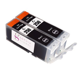 Sophia Global Compatible Ink Cartridge Replacement for PGI-250 (2 Large Black)