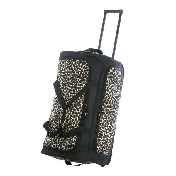 f35231f281 Shop Olympia 26-inch Fashion Printed Leopard Rolling Upright Duffel ...