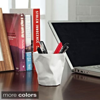 'Lava' Crumpled Paper Modern Pencil Holder