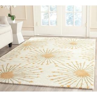 Safavieh Handmade Bella Beige/ Gold Wool Rug (5' x 8')