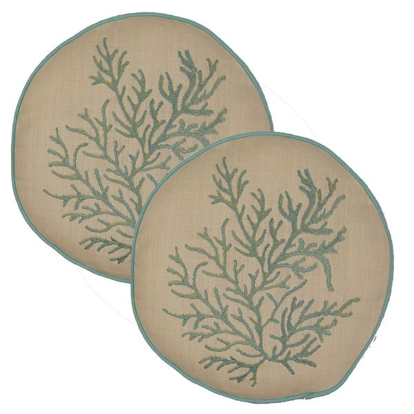 Shop Coral Nautilus 40in Round Throw Pillows Set Of 40 On Sale Interesting Round Decorative Pillows Sale