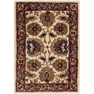 Safavieh Handmade Classic Ivory/ Red Wool Rug (2' x 3')