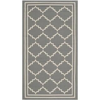 Safavieh Courtyard Transitional Grey/ Beige Indoor/ Outdoor Rug (2' x 3'7)