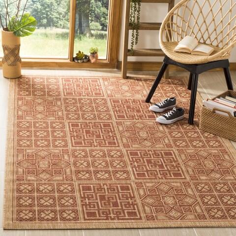 Safavieh Indoor/ Outdoor Courtyard Natural/ Brick Rug - 2' x 3'7'