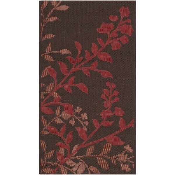 Safavieh Indoor/ Outdoor Courtyard Chocolate/ Red Rug - 2' x 3'7'