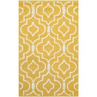 Safavieh Handmade Moroccan Cambridge Gold/ Ivory Wool Rug - 2'6 x 4'