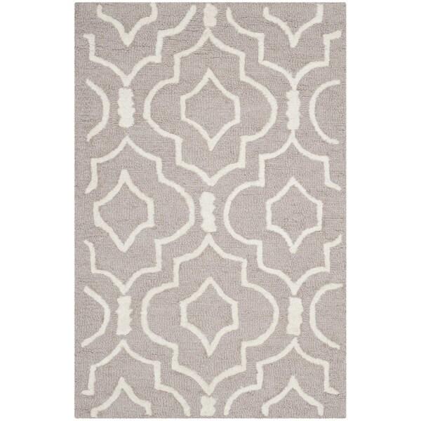 Safavieh Handmade Moroccan Cambridge Beige/ Ivory Wool Rug (2' x 3')