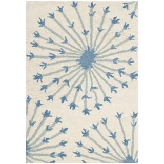 Safavieh Handmade Bella Beige/ Blue Wool Rug (2' x 3')