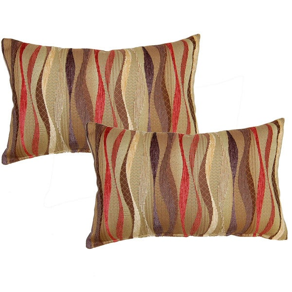 New Wave Brick 12.5-in Throw Pillows (Set of 2) - Free Shipping On Orders Over $45 - Overstock ...