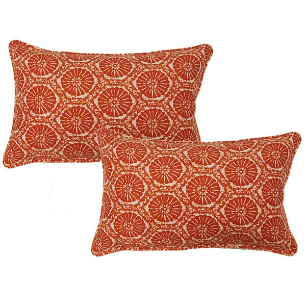 Seabreeze Orange12.5-in Throw Pillows (Set of 2)