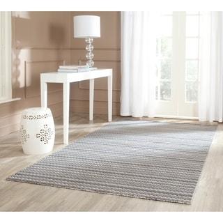 Safavieh Handmade Himalaya Beige/ Grey Wool Area Rug (5' x 8')