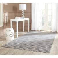 Safavieh Handmade Himalaya Beige/ Grey Wool Area Rug - 5' x 8'