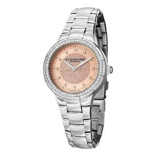 Stuhrling Original Women's Sparkle Swiss Quartz Bracelet Watch