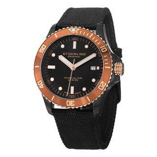 Stuhrling Original Men's Caravel Swiss Quartz Strap Watch