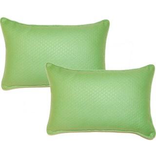 Diamond Emerald 12.5-in Throw Pillows (Set of 2)