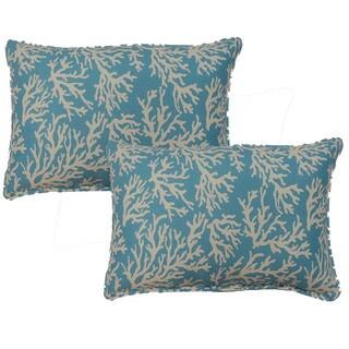 Faylinn Teal 12.5-in Throw Pillows (Set of 2)