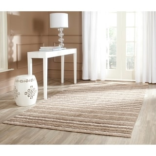 Safavieh Handmade Himalaya Natural/ Multicolored Wool Stripe Area Rug (5' x 8')