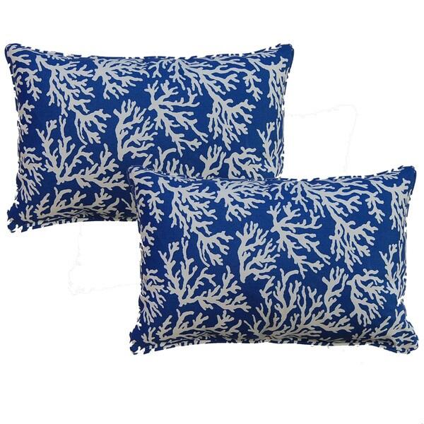 Faylinn Atlantic 12.5-in Throw Pillows (Set of 2)